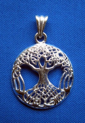 Pendant Tree of Life silver plated