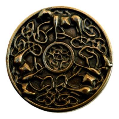 Zierniete Altmessing-Optik Celtic Horses
