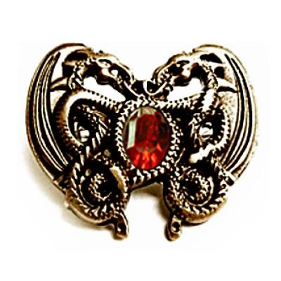 """Rivet décoratif en optique laiton antique """"coeur du dragon"""" (""""Dragonheart"""")"""