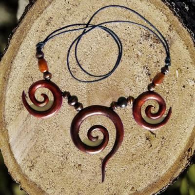 Necklace Spirals, triple