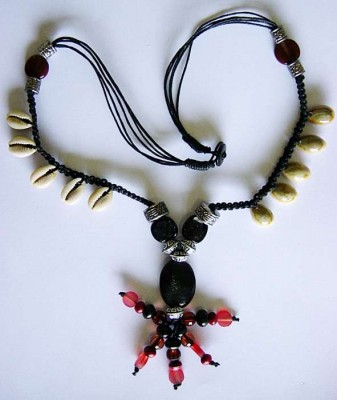 Voodoo Necklace with genuine cowrie shells