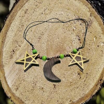 Necklace Pentagram - Moon