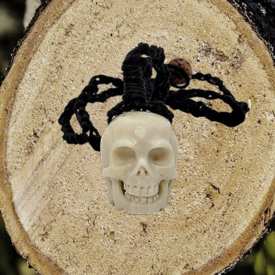 Necklace with Skull from bone