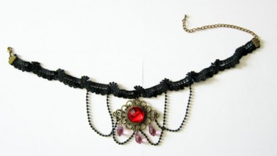 Vampire Countess lace neck ribbon