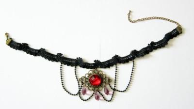 Vampire Countess lace neck ribbon