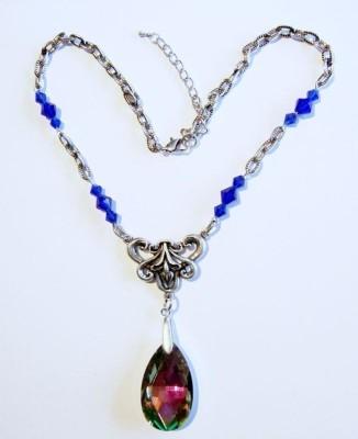 Necklace Blue Rainbow