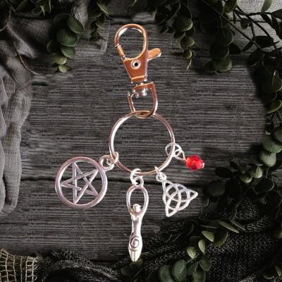 Porte-clés sorcières Déesse Wiccan