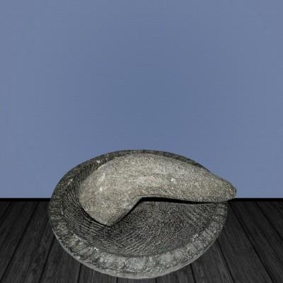Moratio rustico con pestello, ciotola piatta