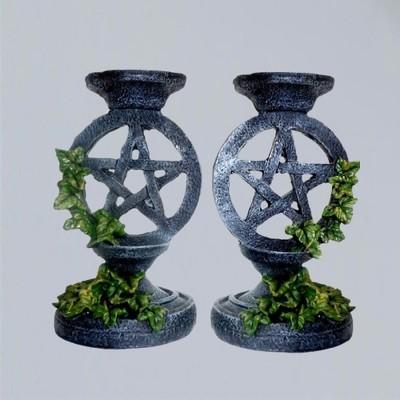 Chandelier pentagramme de lierre 2 pièce