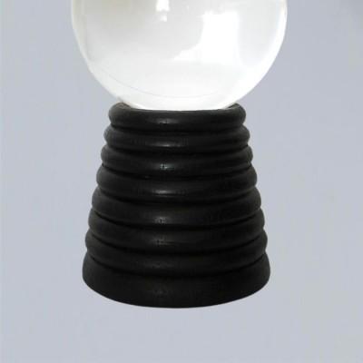 Support pour boule de cristal, conique en bois