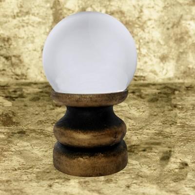 Sfera di cristallo di legno, oro/nero
