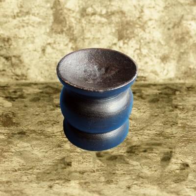 Support pour boule de cristal, brun en bois, grand