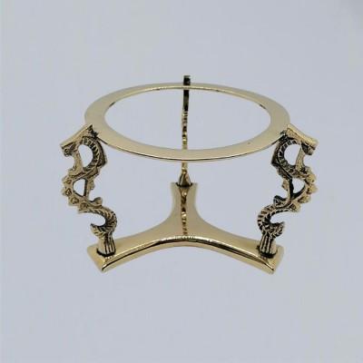 Glass Ball Holder from Brass