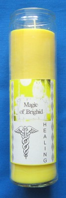 Magic of Brighid Glass Candle Healing