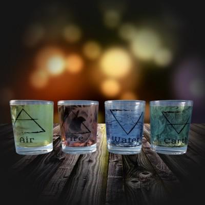 Teelichtgläser 4 Elemente Set wasserfest