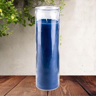 Candele colorato in vetro blu