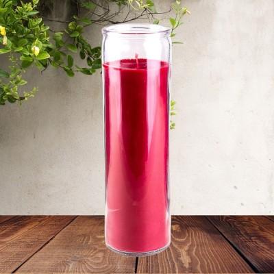 Candele colorato in vetro rosso