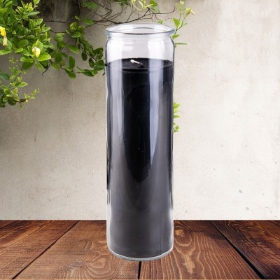 Candele colorato in vetro nero