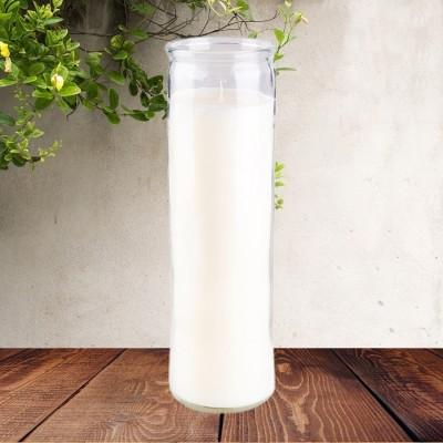 Candele colorato in vetro bianco