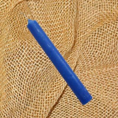 Bougies teintées dans la masse bleu marine 12 pièces