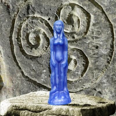 Figura candela per scopi magici - donna blu
