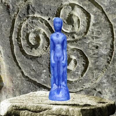 Figurenkerzen für magische Zwecke - Mann blau