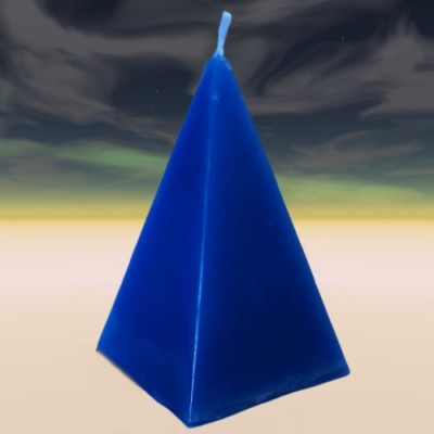 Pyramid candle blue, fast luck