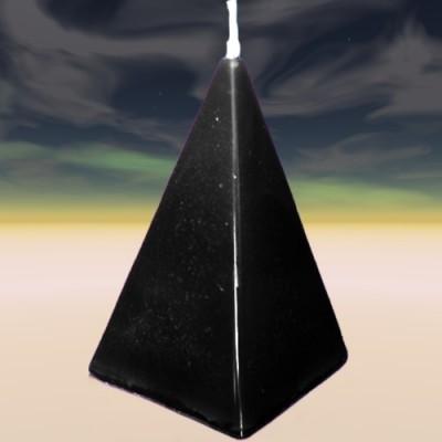 Pyramidenkerze schwarz Protection (Schutz)