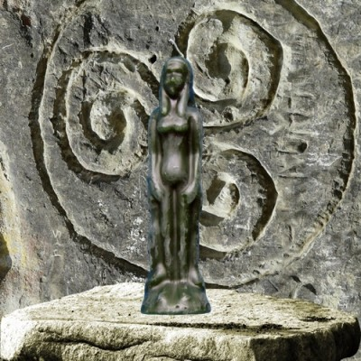 Figura candela per scopi magici - donna verde