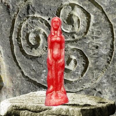 Bougie personnage pour buts magiques - femme rouge