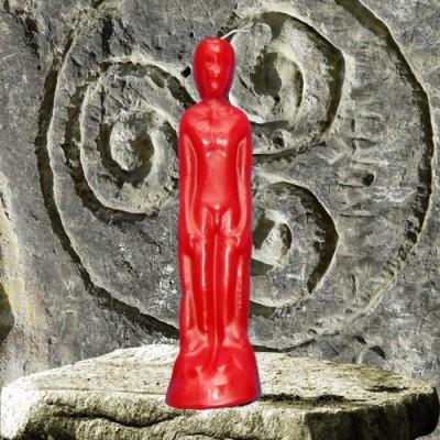 Figura candela per scopi magici - uomo rosso