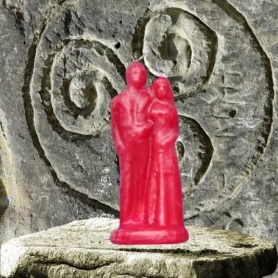 Figura candela per scopi magici - Matrimonio rosso