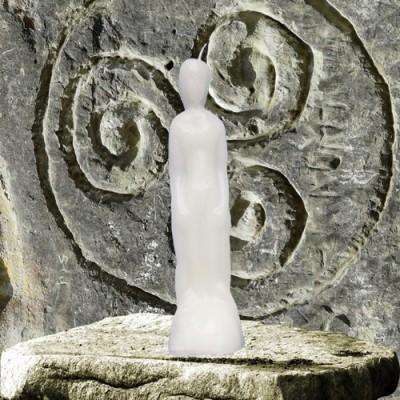 Figura candela per scopi magici - uomo bianco