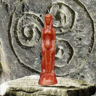 Figure Candles for Magickal Purposes - Woman brown