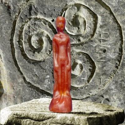 Figura candela per scopi magici - uomo marrone
