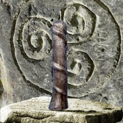 Bougie personnage pour buts magiques - Bougie serpent noire