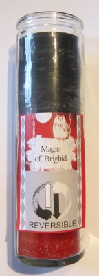 Magic of Brighid Glass Candle Reversible
