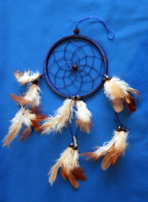 Four Ring Dream Catcher, small Black