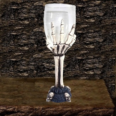 Glass Chalice with bone hand