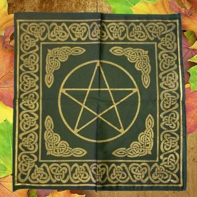 Tessuto d'altare grande con contorni celtici e Pentagramma