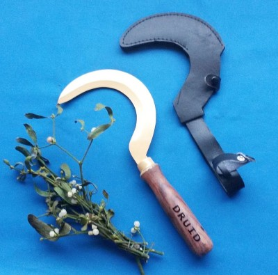 Druids sickle with wooden handle