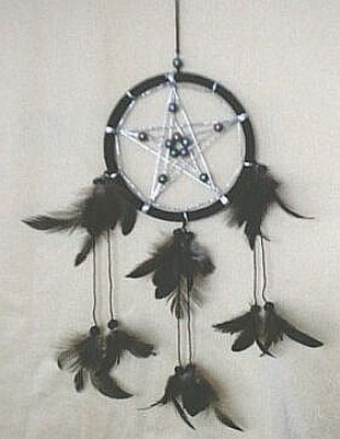 Dream Catcher with Pentagram Blue