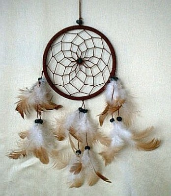 One Ring Dream Catcher 11,5 cm Brown