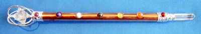 Chakra wand of copper with Merkaba