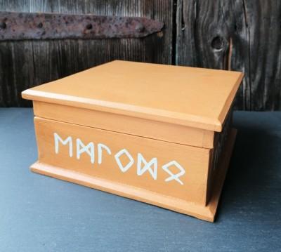 Coffret avec Alphabet des Runes