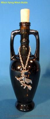 Bouteille d'élixir amphore antique 200 ml avec sorcière