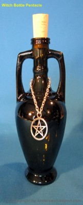 Elixir bottle amphora antique 200 ml with Pentagram