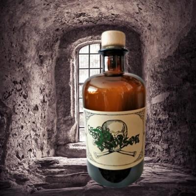 Alchemisten Flasche Poison mit Totenkopf