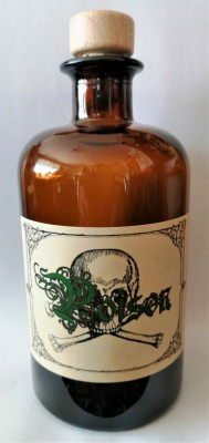 Alchemists Bottle Poison with skull