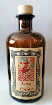 Alchemists Bottle Love Potion with Hearts